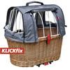 KlickFix Doggy Basket Plus Koszyk rowerowy dla Racktime brązowy